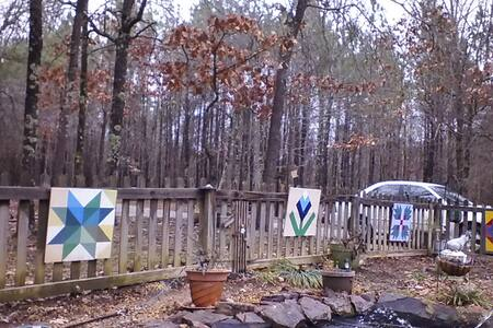 Cabin in the woods behind our house - Holly Springs - Cabaña