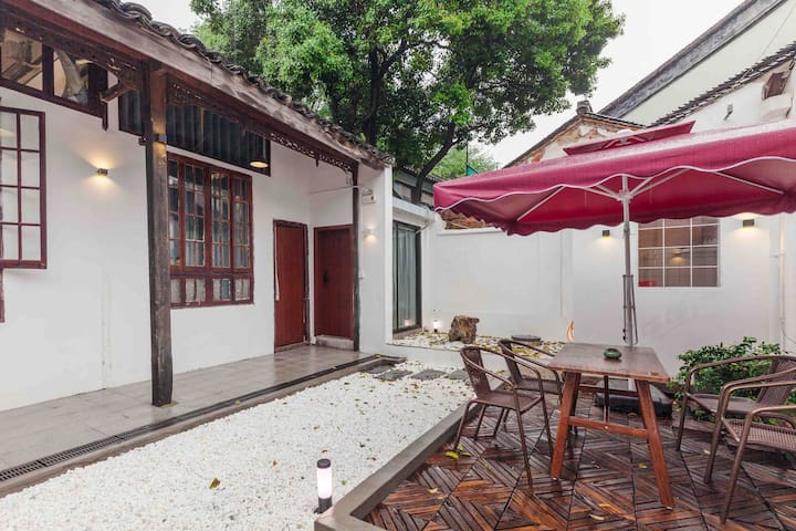 平江路观前街博物馆拙政园 步行可达 独立卫浴双床 独门独院带厨房