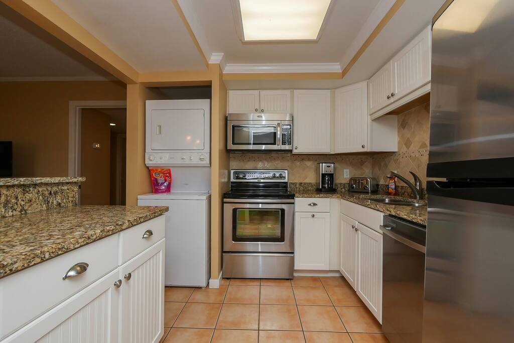 Fully renovated Kitchen with Granite countertops and Stainless steel appliances