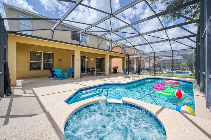 Dream Disney Kissimmee 5.5 bath 16 Guests Pool Spa