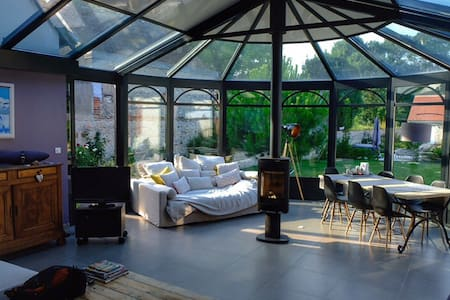 b&b proche de Zoo Beauval, veranda, entrée à part
