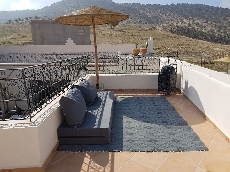 Relax area on the terrace