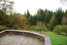 View from backyard terrace