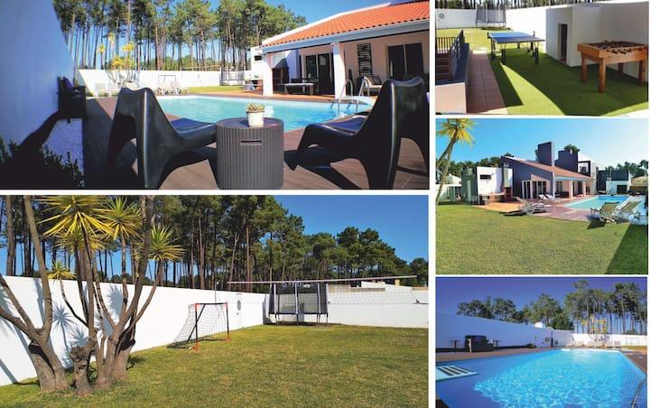 Villa,  pool, wi-fi, 5min Beach, 20min LISBON
