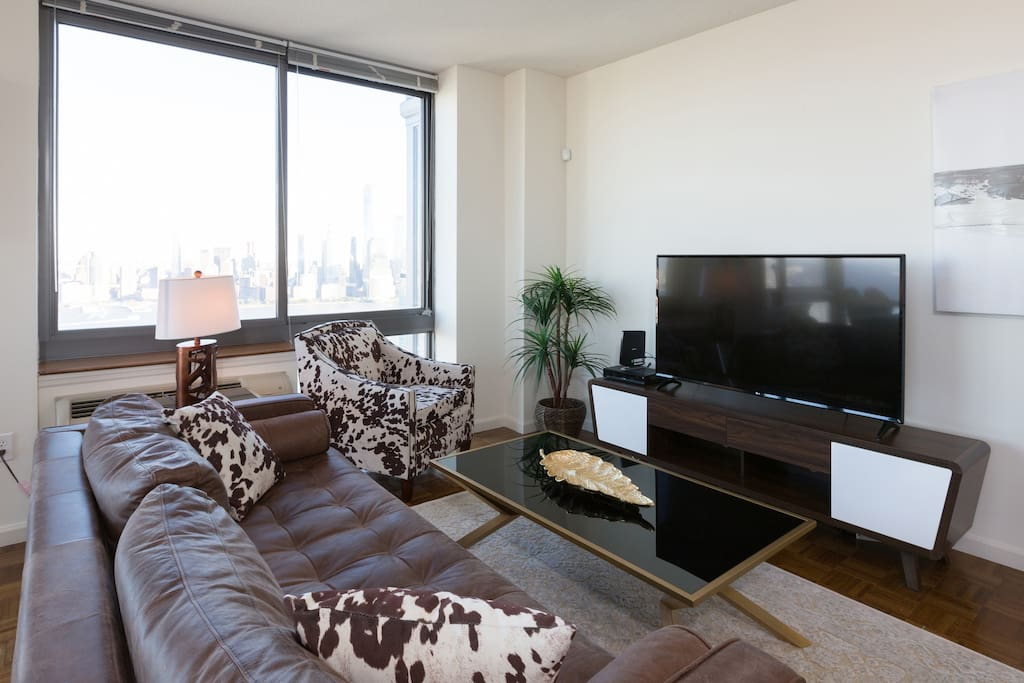 Relax and watch a movie or TV in this comfortable space.