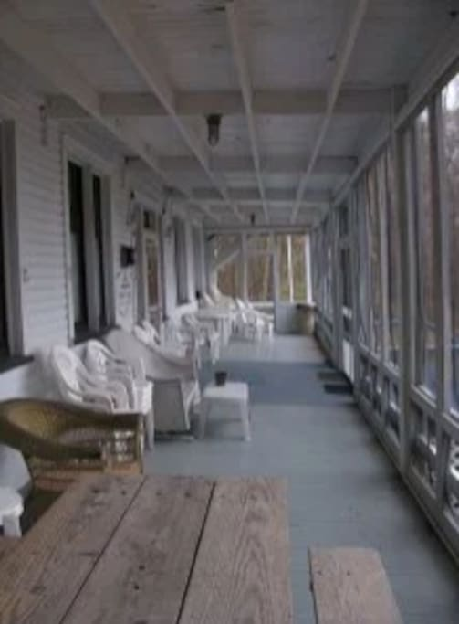 Screened in front porch - great for viewing magnificent sunsets!