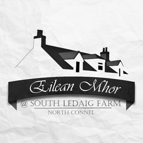 Eilean Mhor old farmhouse with open fire near Oban