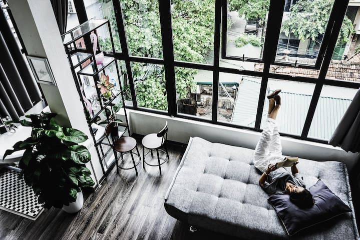 Old quarter Ecofriendly Loft with View and Bathtub