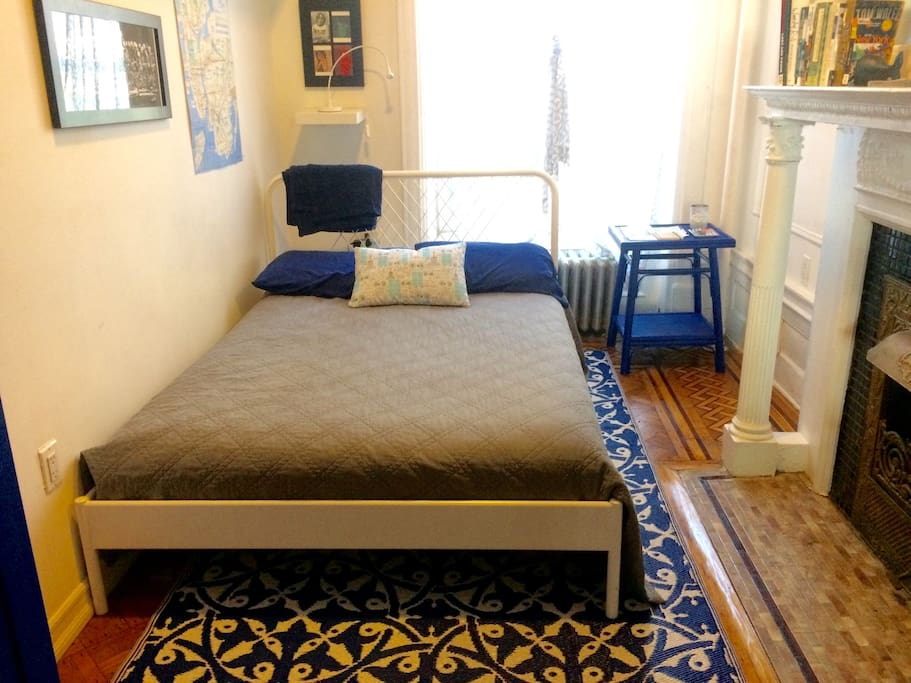 The indigo guest room.