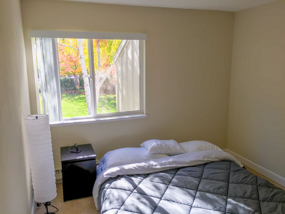 Bedroom in daylight - bright with spacious, comfortable Cal King bed! Hmm.... did someone say 'Good Night'?