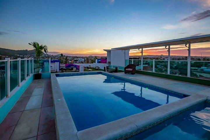 Departamento moderno e íntimo en Cabo San Lucas.