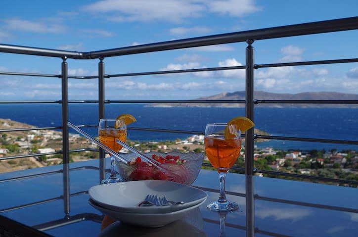 Villa Panorama mit einem atemberaubenden Ausblick