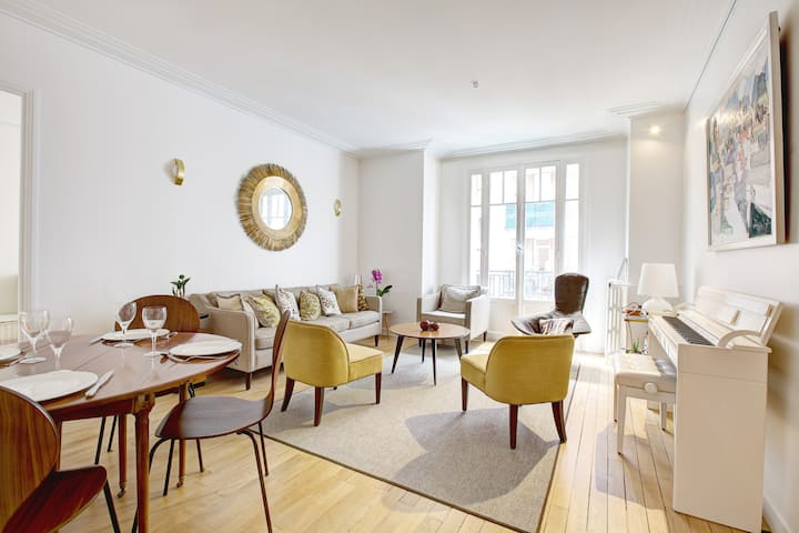 Bright and Modern Flat near Porte d'Auteuil Metro