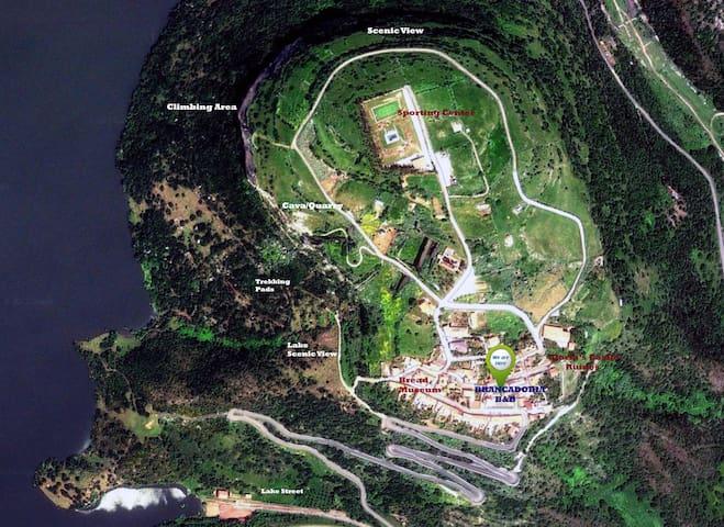 Visione aerea del Villaggio