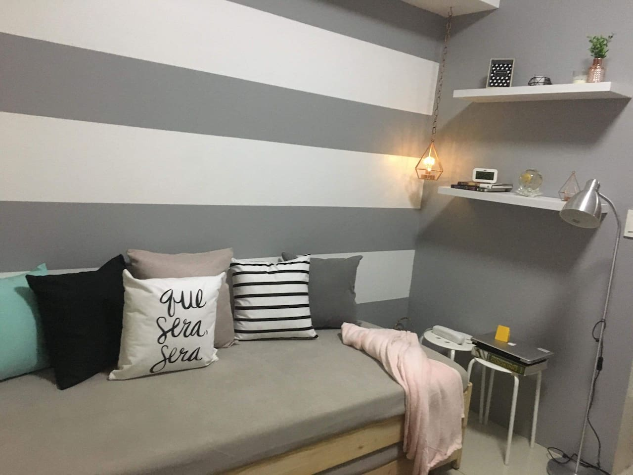 Living room with pullout bed