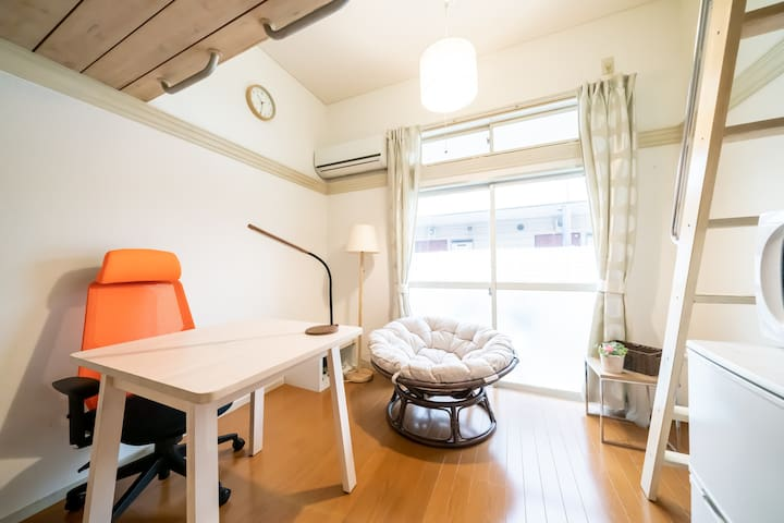 Private Bath & Kitchen Room Wifi /2 Bikes B103