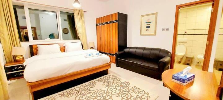 High floor sea view master bedroom marina 4213