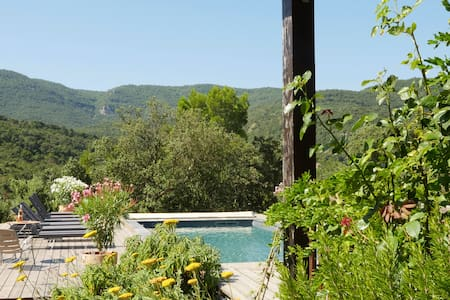 La Source. House with heated  pool  near Lagrasse