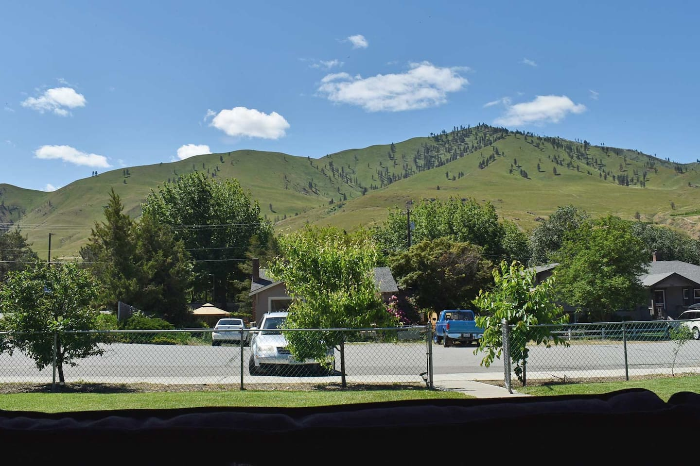 Large, grassy fenced yard with easy access to Riverwalk Park - great walking path and two blocks away from downtown Chelan