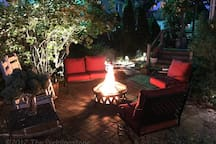 We will be happy to arrange a night around the fire pit for you. If you prefer a movie under the stars, this can be arranged as well. Don't hesitate to ask.