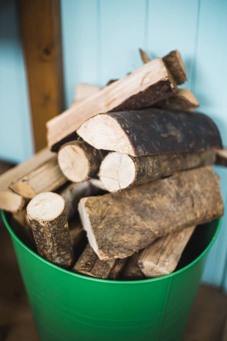 Stocked with dry firewood all year around and hot water bottles for those cold Winter evenings.