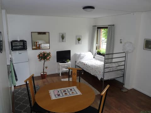 Cosy retro apartment situated near beautiful lake.