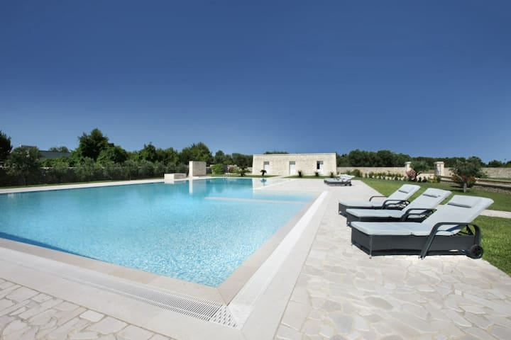Bilocale Li Archi in residenza con piscina - Borgagne - Villa