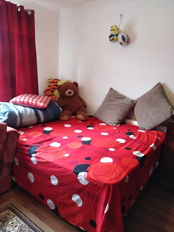 Comfortable room with king size bed