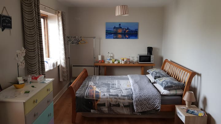 Huge room/private toilet/free parking/near centre