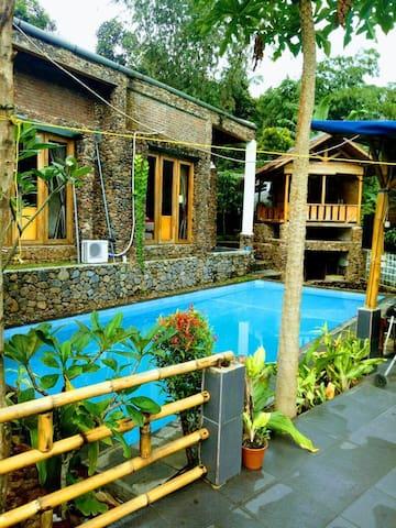 Hot Spring Stone Villa Sentul