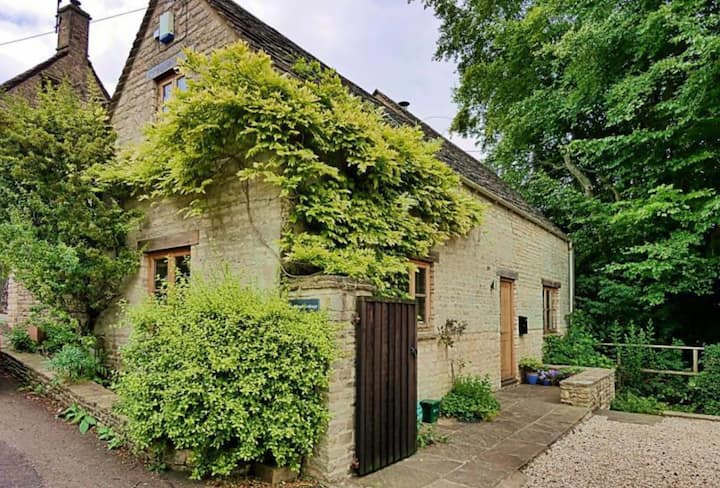 Barn Cottage, in a quiet Cotswolds hamlet.