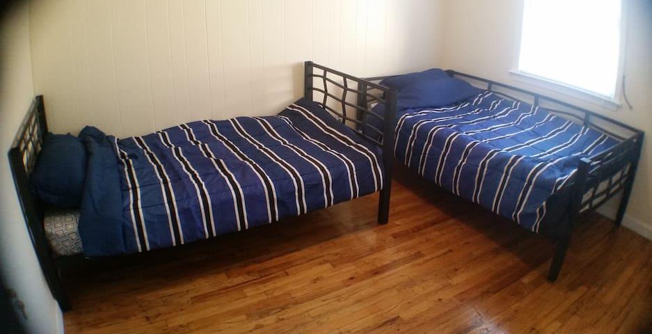 Comfortable bedroom in New York