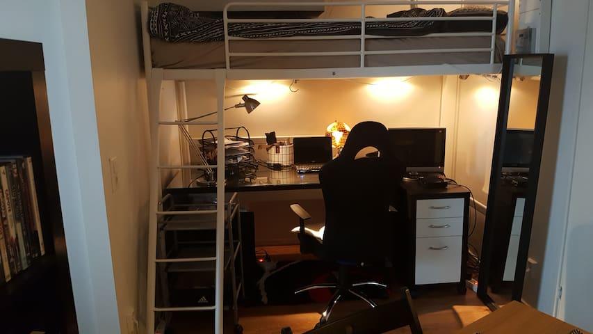 Fristående lägenhet (1 rum och kök). delad /helt