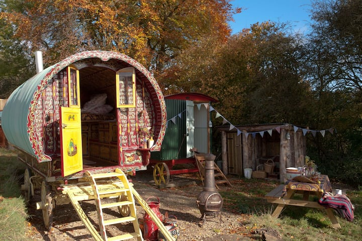 Gypsy and Shepherds Hut in The Chilterns