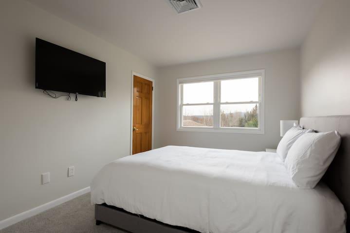 Guest Room 2 - 1 Queen Bed, TV, Closet