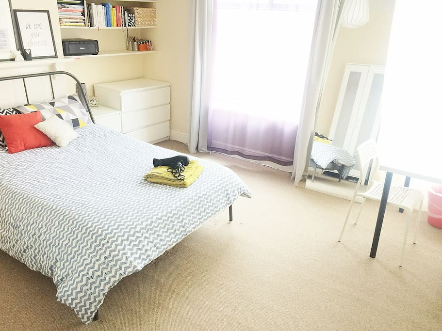 Master bedroom with loads of space ... Tastefully decorated only for you <3
