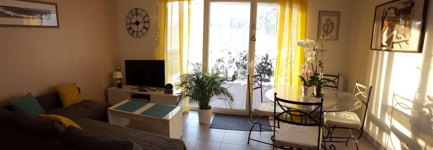 Appartement F2 avec jardin proche Disney et Paris