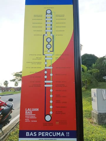 Route of free Selangorku Shuttle Bus