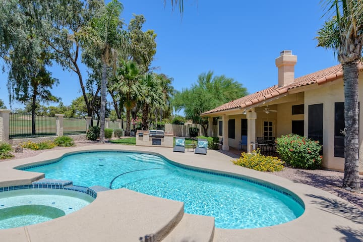 3 BR 'Ocotillo Haven' on Prime Golf Lot w/Pool