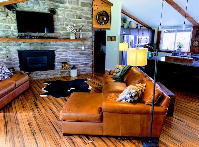 Penn State Football Rustic Lodge Home