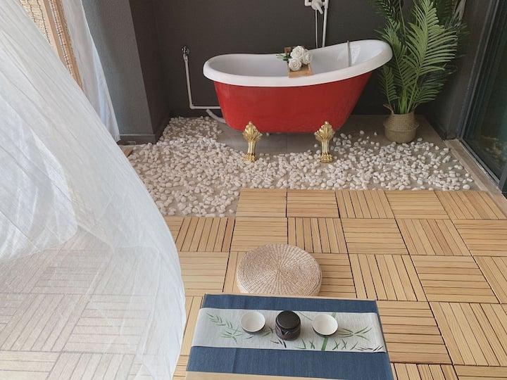汕美小筑/D】保利金町湾 打麻将喝茶 豪华双床浴缸