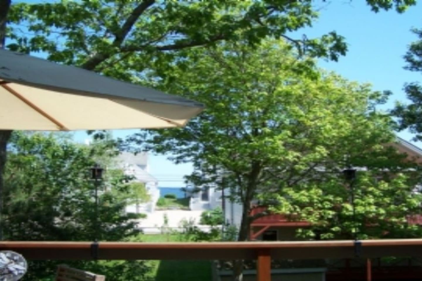 Back Deck view of the water
