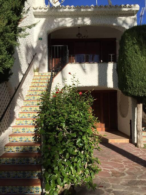 La vivienda y la terraza