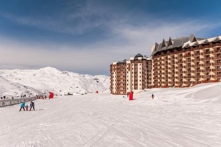 ValThorens 2x2 personnes 30 m2 skis aux pieds