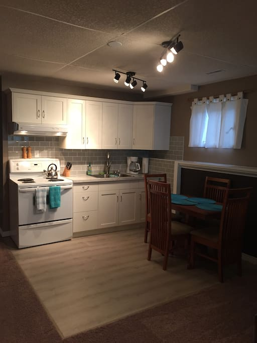 New kitchen with dining area
