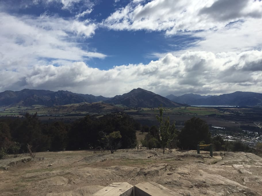 From the top of Mt Iron looking towards Mt Gold & Mt Maud