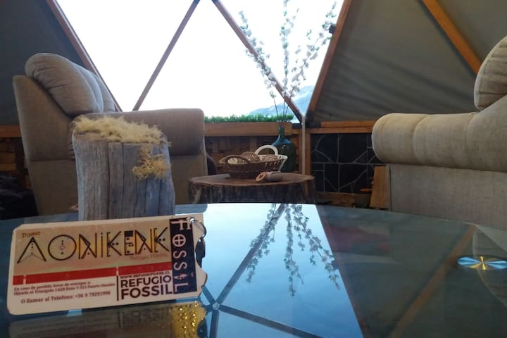 Refugio FOSSIL: Domo Aonikenk Puerto Natales