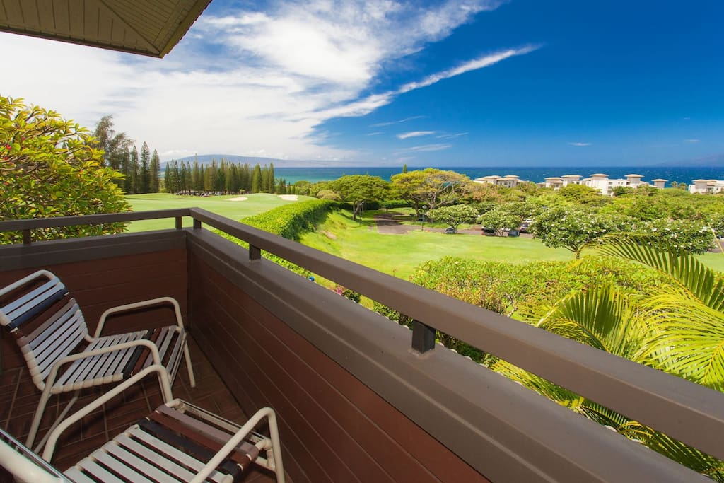 Enjoy morning cup of coffee or evening sunset on private lanai
