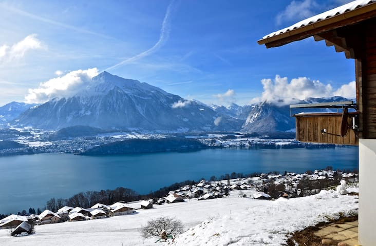 Chalet Lindt with beautiful lake and mountain view