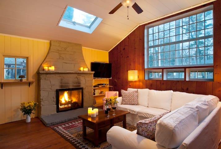 NEW! Brookside Retreat: fireplace, patio, walkable